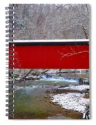Covered Bridge Along The Wissahickon Creek Spiral Notebook