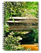 Covered Bridge At Lanterman's Mill Spiral Notebook