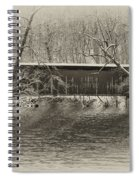Covered Bridge In Black And White Spiral Notebook