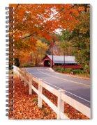 Covered Bridge In Brattleboro Vt Spiral Notebook