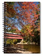 Covered Bridge Over The Swift River In Conway Spiral Notebook