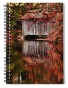 Covered Bridge Reflection Spiral Notebook