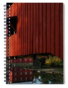 Covered Bridge Reflections Spiral Notebook