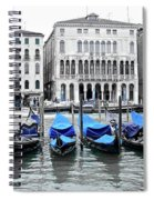 Covered Gondolas In Blue Spiral Notebook