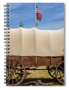 Covered Wagon At Fort Bluff Spiral Notebook