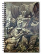 Covered Wagon Attacked By Indians Spiral Notebook