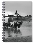 Covered Wagon River Ford And Cable Ferry 1903 Spiral Notebook