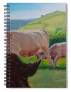 Cow And Calf Painting Spiral Notebook