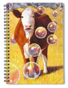 Cow Bubbles Spiral Notebook