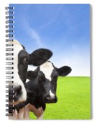 Cow On Green Grass Field Spiral Notebook