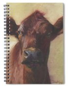 Cow Portrait IIi - Pregnant Pause Spiral Notebook