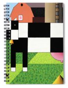 Cow Squared With Barn Big Spiral Notebook