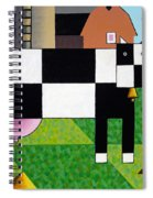 Cow Squared With Barn Left Spiral Notebook
