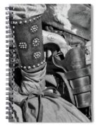 Cowboy And Six Shooter Bw Spiral Notebook