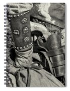 Cowboy And Six Shooter Bw Sepia Spiral Notebook
