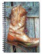 Cowboy Boot Rack Spiral Notebook