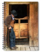 Cowboy By Saloon Doors Spiral Notebook