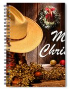 Cowboy Christmas Party - Merry Christmas Spiral Notebook