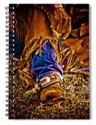 Cowboy Gold Spiral Notebook