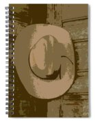 Cowboy Hangs It Up Square Format 1 Spiral Notebook