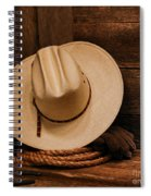 Cowboy Hat And Gear Spiral Notebook