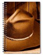 Cowboy Hat - Sepia Spiral Notebook