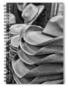 Cowboy Hats Black And White Spiral Notebook