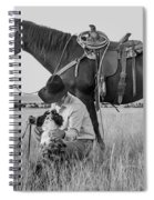 Cowboy, His Horse And Dog Spiral Notebook