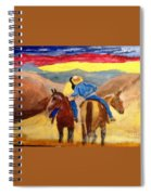 Cowboy Kisses Cowgirl Spiral Notebook
