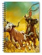 Cowboy Lassoing Cattle  Spiral Notebook