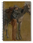 Cowboy - Study For Cowboys In The Badlands Spiral Notebook