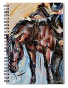 Cowboy With His Horse Spiral Notebook