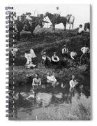 Cowboys Bathing Spiral Notebook