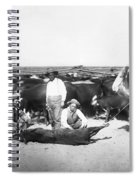 Cowboys Branding Cattle C. 1900 Spiral Notebook