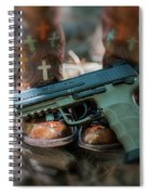 Cowgirl Shabby Chic Spiral Notebook