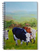 Cows And English Landscape Spiral Notebook