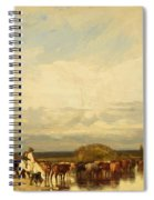 Cows Crossing A Ford 1836 Spiral Notebook