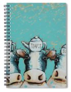 Cows For Tea Spiral Notebook
