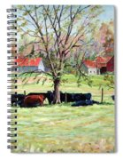Cows Grazing In One Field  Spiral Notebook