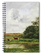 Cows In A Meadow Spiral Notebook