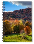 Cows In Pomfret Vermont Fall Foliage Spiral Notebook