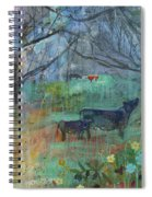 Cows In The Olive Grove Spiral Notebook