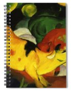 Cows Yellow Red Green 1912 Spiral Notebook