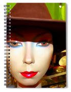 Coy Cowgirl Spiral Notebook