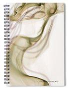 Coy Lady In Hat Swirls Spiral Notebook
