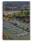 Coyote Point Marina San Francisco Bay Sfo California Spiral Notebook