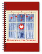 Cozy Christmas Card Spiral Notebook