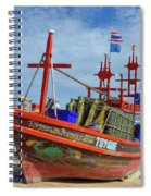 Crab Boat Spiral Notebook
