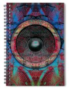 Cracked Music Speaker 3 Spiral Notebook