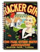 Cracker Girl Citrus Crate Label C. 1920 Spiral Notebook